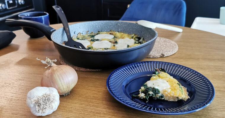 Tortilla ziemniaczano-szpinakowa